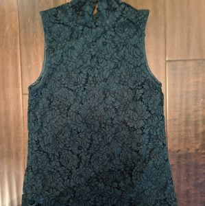 Like New Dark Green Lace Top